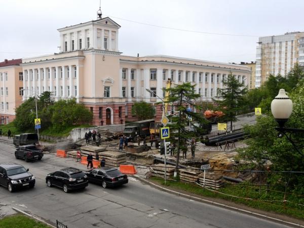 Сегодня в Магадане 19 августа перекрыто движение на улицах Парковой, Приморской и на Колымском шоссе