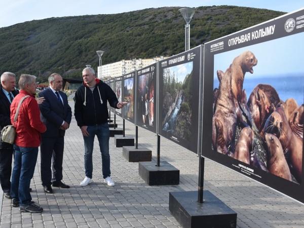 В Магаданском парке Маяк начала свою работу фотовыставка «Открывая Колыму»