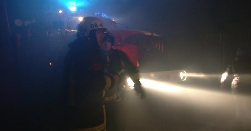 Магазин горел в поселке Сокол