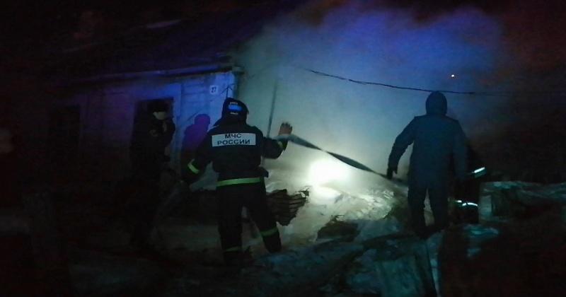 Тело мужчины найдено при тушении пожара в частном доме в Магадане